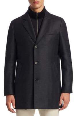 Saks Fifth Avenue COLLECTION Notch Wool Topcoat