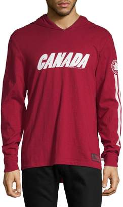 Canadian Olympic Team Collection Canada Graphic Hooded Long Sleeve Tee
