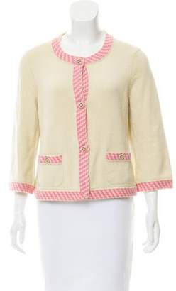 Chanel Cashmere Button-Up Cardigan