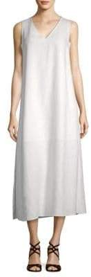 Lafayette 148 New York Janae Linen Midi Shift Dress