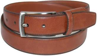 Geoffrey Beene Men's Leather Feather Edge Hidden Stretch Belt