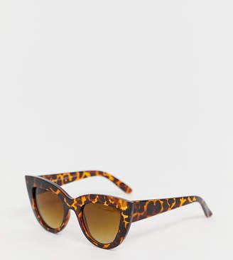 5c04499dc0fb Cat Eye Stradivarius large cateye sunglasses in brown