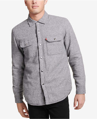 Levi's Mens Sherpa-Lined Shirt Jacket