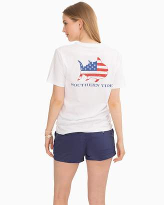 Southern Tide Hearts and Stripes Graphic T-shirt