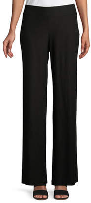 Eileen Fisher Washable Stretch Crepe Modern Wide-Leg Pants, Petite