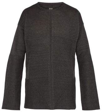 Rick Owens Ribbed Knit Linen Sweater - Mens - Multi