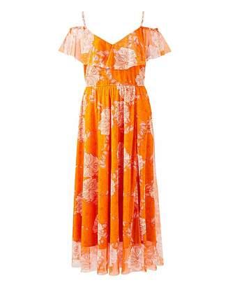 Lovedrobe Botanical Print Mesh Dress