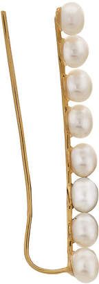 FINE JEWELRY Genuine White Cultured Freshwater Pearl 10K Gold Ear Climbers