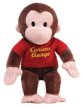 Gund Curious George 12in Red Shirt
