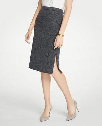 Ann Taylor Marled Side Slit Pencil Skirt