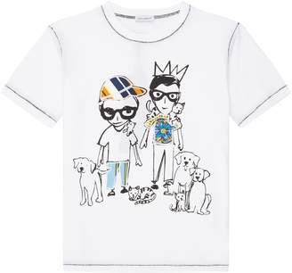 Dolce & Gabbana Patterned Patch T-Shirt