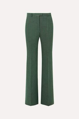 Givenchy Checked Wool Straight-leg Pants - Green