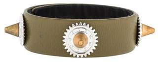 Eddie Borgo Casing Studded Leather Bracelet
