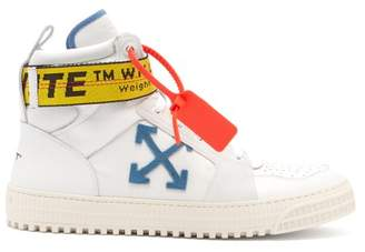 Off-White Off White Industrial Leather High Top Trainers - Mens - White