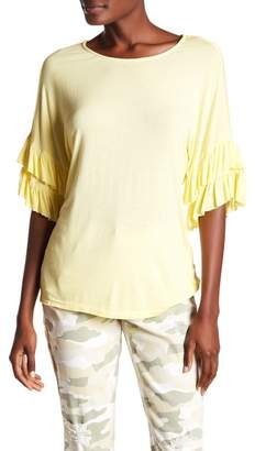 Seven7 Tiered Ruffle Sleeve Top