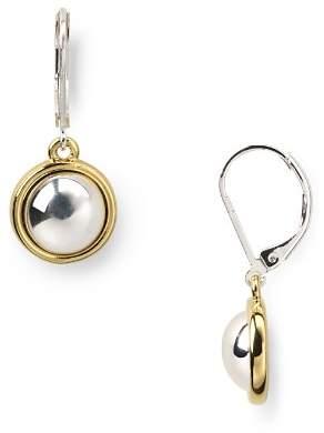 Ralph Lauren Two-Tone Button Drop Earrings