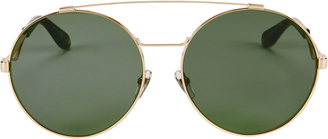 Givenchy Brow Bar Oversized Round Sunglasses $405 thestylecure.com