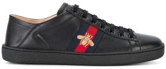 Gucci Black Ace Bee leather sneakers