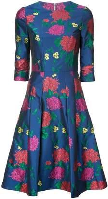 Carolina Herrera floral print flared dress