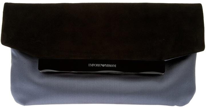 Emporio Armani suede clutch bag