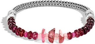 John Hardy Classic Chain Silver Mixed-Stone Bracelet