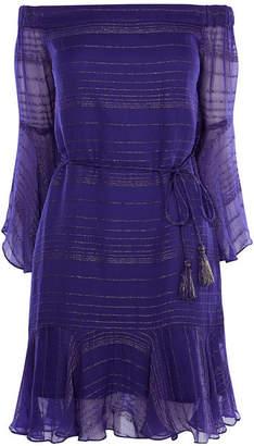 Karen Millen Off-Shoulder Chiffon Dress