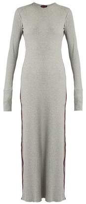 Albus Lumen - Porto Cotton Blend Ribbed Jersey Maxi Dress - Womens - Grey