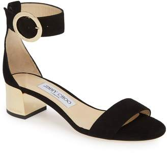 e7a40130aee Jimmy Choo Blue Ankle Strap Women s Sandals - ShopStyle