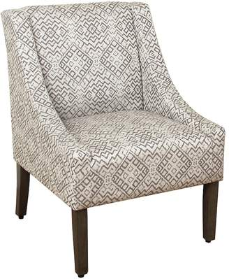 HomePop Geometric Velvet Accent Chair