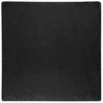 Just Slate Square Placemats, Set of 2, Dark Grey