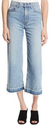 Derek Lam 10 Crosby Dylan Wide-Leg Raw Culotte Jeans
