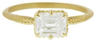 Megan Thorne Emerald Cut Diamond Evergreen Ring - Yellow Gold