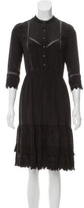Ulla Johnson Silk Lace-Trimmed Dress