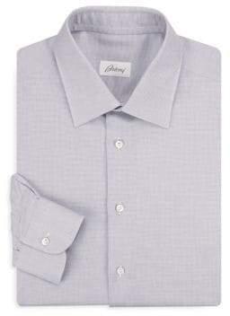 Brioni Regular-Fit Line Cotton Dress Shirt