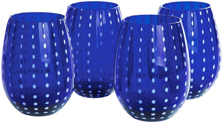 Artland ARTLAND Artland Cambria Set of 4 Stemless Glass Tumblers