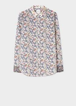 Paul Smith Women's Slim-Fit Liberty Print Shirt With Contrast Cuffs And Collar