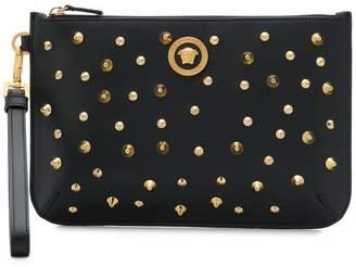 Versace studded Medusa clutch bag
