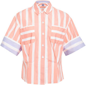 Thierry Colson Striped Short Sleeve Cotton Shirt