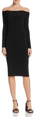 T by Alexander Wang Needle Knit Off-The-Shoulder Dress $450 thestylecure.com