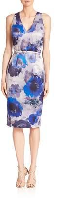 David Meister Women's Flora-Print Sheath Dress