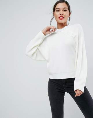 Asos Design Jumper with Ruffle Detail