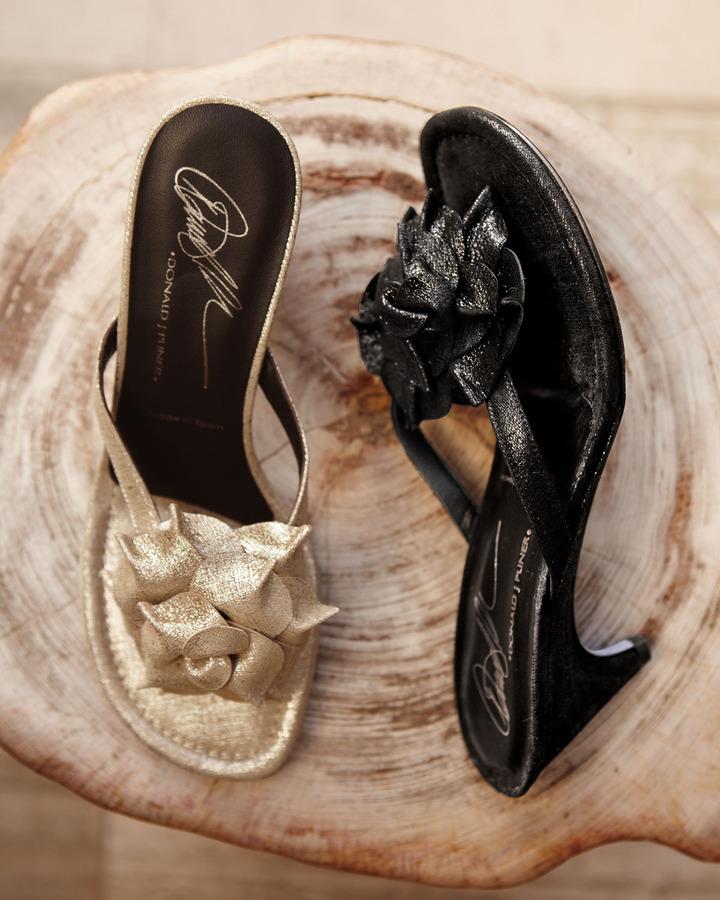 Donald J Pliner Floral Shimmer Sandal