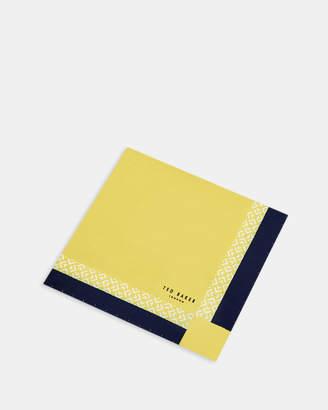 Ted Baker PONY Contrast border silk pocket square