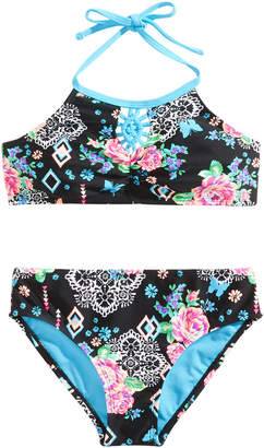 LTB Breaking Waves 2-Pc. Arizona Garden Printed Bikini, Little & Big Girls