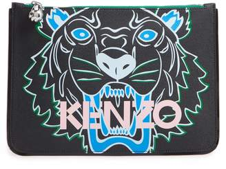 Kenzo Icon Leather Pouch Clutch
