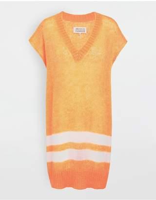 Maison Margiela Neon Stripe Mohair Knit Tunic
