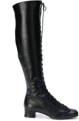L'Autre Chose lace-up over the knee boots