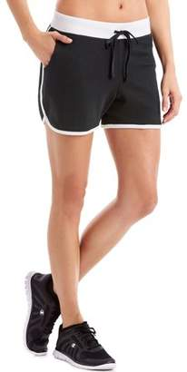 Hanes Sport Women's French Terry Dolphin Hem Shorts