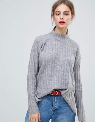 Pieces Chunky Knitted Rib Sweater