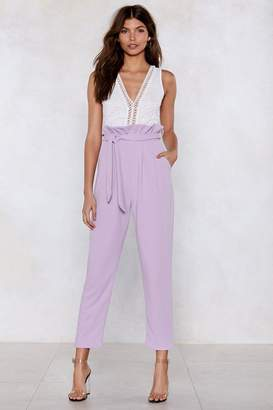 Nasty Gal Is That a New Paperbag High-Waisted Pants